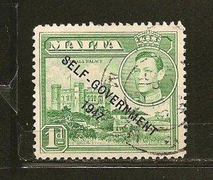 Malta 210 Self Government 1947 Overprint Used