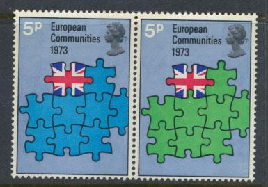 Great Britain SG SG 920a se-tenant pair SG 920/921 MUH European Union