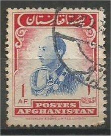 AFGHANISTAN, 1957, used 1af, Zahir Shah, Scott 451