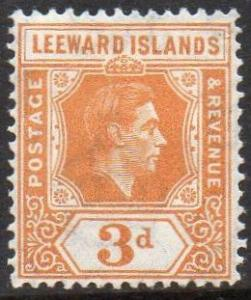 Leeward Islands 1942 3d pale orange MH
