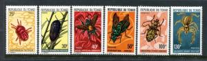 Chad 295-300, MNH, Insects Beetles. x24057