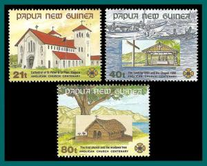 Papua New Guinea 1991 Anglican Church, MNH  775-777,SG655-SG657