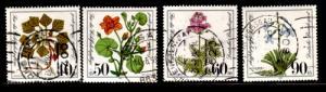 Germany Sc B577-80 1980 Wild Flowers stamp set used