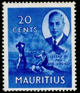 MAURITIUS SG283, 20c ultramarine, VLH MINT.