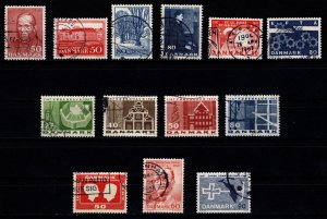 Denmark 1966-67 Commemoratives, Complete Sets [Used]