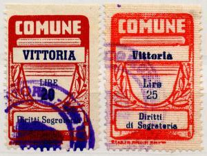 (I.B) Italy Revenue : Diritti di Segretaria 20L + 25L (Vittoria)