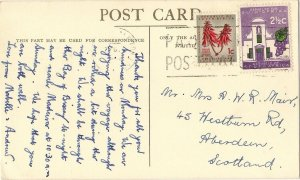 South Africa PAQUEBOT POSTED AT SEA ppc Royal Mail Steamer PRETORIA CASTLE