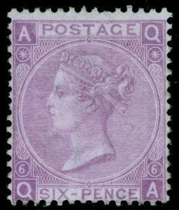 SG107, 6d bright violet plate 6, LH MINT. Cat £1800. QA