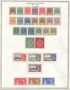 Leeward Islands 1921-37 Approx. CV. $581 Beautiful! GP  (JH 9/15)