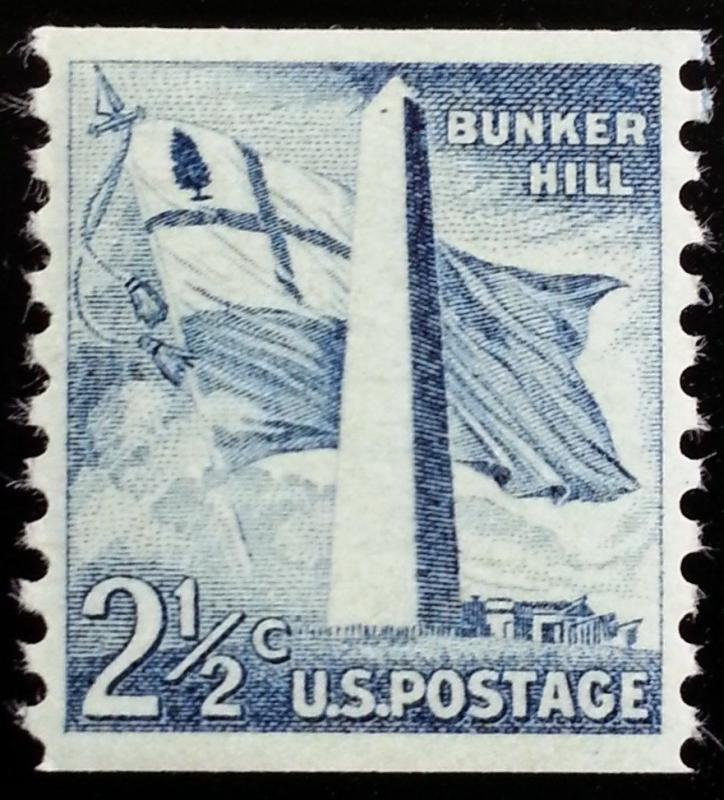 1959 2 1/2c Bunker Hill, Coil Scott 1056 Mint F/VF NH