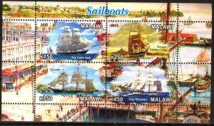 Malawi 2011 Sailing Ships Boats (1) MNH Cinderella !