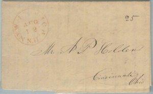 72335  - UNITED STATES USA - PREPHILATELIC Cover: New Ipswich, NH 1844