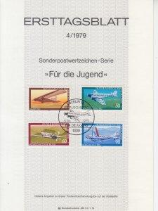 1979 Germany Aviation  (Scott B558-61) FDS