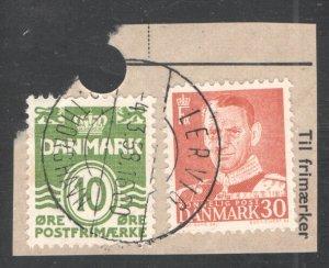 Faroe Islands, LERVIG Postmark,  Wowern #24,03.  CV 7.20    ...  1960228/29