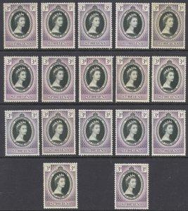 St. Helena Sc# 139 MNH Lot/17 1953 3p Coronation Issue