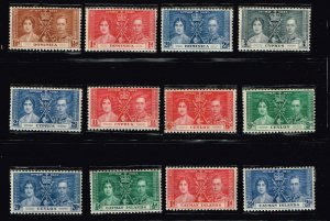 UK STAMP 1937 Coronation ISSUE COLLECTION LOT MNH/OG STAMP COLLECTION LOT #S5