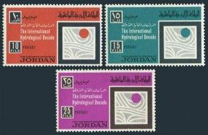 Jordan 539-541,MNH.Michel 665-667. UNESCO 1967.Hydrological Decade 1965-1974.