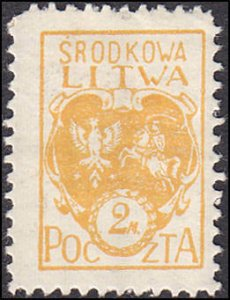 Central Lithuania 6 Coat of Arms MH
