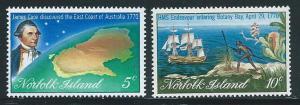 Norfolk Islands 141-2 1970 Capt Cook set NH
