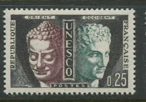 France Unesco - Scott 202 - Unesco Issue -1961-65 - MLH - Single 25c Stamp