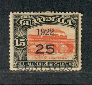 Guatemala Sc#191 M/H/VF+, Type IV, Cv. $30