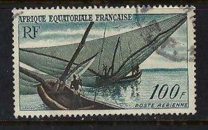 FRENCH EQUATORIAL AFRICA C40 VFU BOAT O641-2