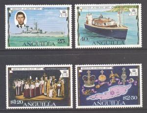 Anguilla Scott 271/274 - SG269/272, 1977 Silver Jubilee Set MNH**