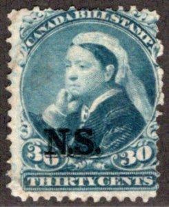 van Dam NSB13 - Nova Scotia Bill Stamp - 30c - Used