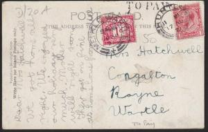 GB SCOTLAND 1921 postcard Huntly to MEIKLE WARTLE postage due TO PAY........6856