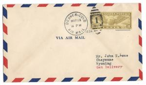 United States, C17, Postal History Air Mail Cover, Used