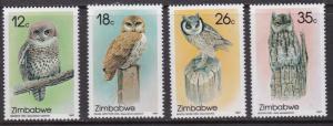 Zimbabwe,  Fauna, Birds, Owls MNH  / 1987