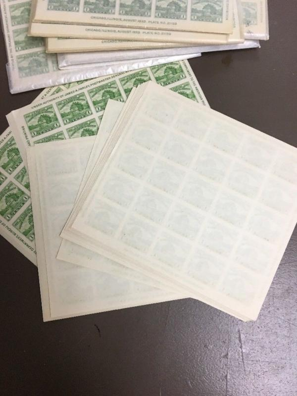 #730   10 MNH Souvenir Sheet. .01 S/s Of 25  imperforate. Mint Condition