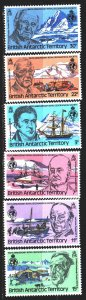 British Antarctic Territory (BAT). 1980. 78-83. Explorers of Antarctica. MNH.