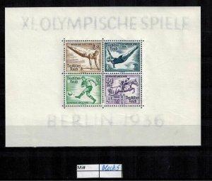 Deutschland Reich TR02 DR Mi Block 5 1940 Reich Postfrisch ** MNH