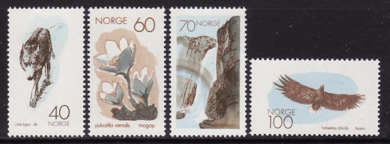 Norway #551-54 F-VF Mint NH ** Conservation Year