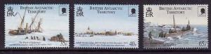 British Antarctic Territory-Sc#285-7-unused NH set-Ships-Shackleton-2000-
