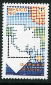 MEXICO 2334, WORLD POST DAY. MINT, NH. VF.
