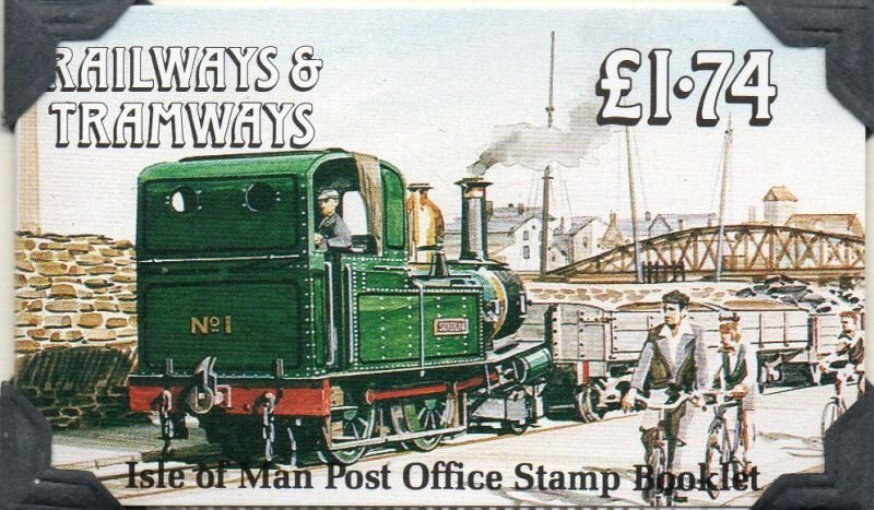 Isle of Man Sc 358f 1990 Trains stamp booklet mint NH