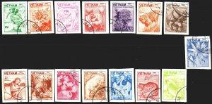Vietnam. 1984. 1529U-43U. Flora and fauna of Vietnam. USED.