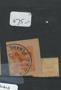 MALAYA JAPANESE OCCUPATION PENANG (P1007B) PSC 2C ORANGE DN SON PENANG VFU
