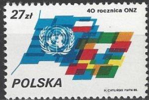 Poland 2704  MNH  UN 40th Anniversary
