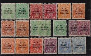 NEW GUINEA - NWPI 1918 KGV complete + multi wmk inverted & shades.