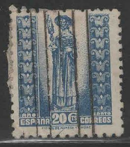 SPAIN Scott 724 Used St James statue stamp