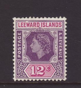 1954 Leeward Is 12c With Broken Frame Unused SG134var