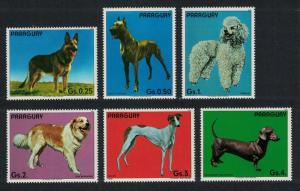 Paraguay MNH Set Of 6 Pedigree Dogs WOOF!!! WOOF!!!!