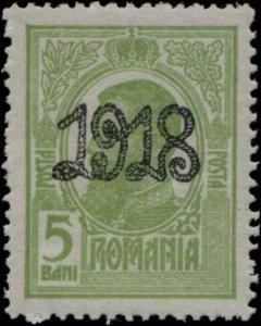 1918 ROMANIA #241 KING CAROL I MNH