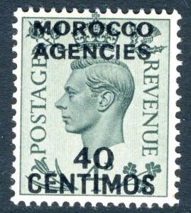 MOROCCO AGENCIES (SPANISH)-1940 40c on 4d Grey-Green Sg 169 UNMOUNTED MINT