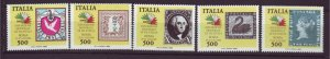 J22665 Jlstamps 1985 italy set mnh #1652a-e stamps