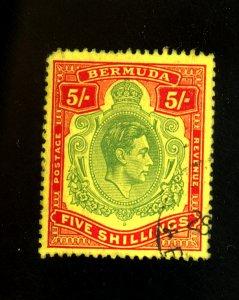 BERMUDA #125 USED F-VF Cat $15