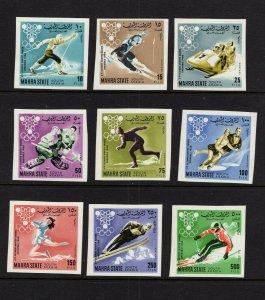 Aden (Mahra) #39-47B  (1967 Grenoble Olympics imperf) CV €15  ($22 cdn)
